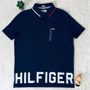 Tommy Hilfiger Denim Blue Polo Shirt Large New